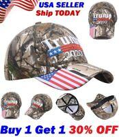 2019 Donald Trump 2020 Cap USA Flag Camouflage Baseball Cap Hat Keep Make Great