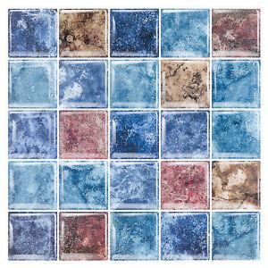 5x Peel and Stick Self Adhesive Backsplash Tile 3D Vinyl Wall Panels Sticker US
