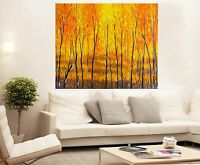 original Art painting Abstract Forest Tree Landscape Large Canvas COA aboriginal