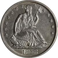 1858-S Seated Half Dollar AU/BU Detail Key Date Great Eye Appeal
