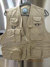 Master Sportsman Men's Fishing Vest Brown Cotton Blend Large