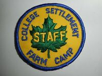 "Vintage Boy Scouts College Settlement Staff  3"" Patch"