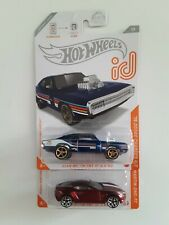 2 Hot Wheels Id, 70 Dodge Charger R/T & Aston Martin One-77