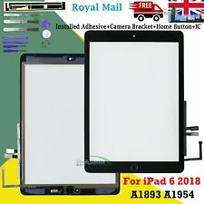 Black For 2018 iPad 6 A1893 A1954 Touch Screen Digitizer Replacement + IC Button