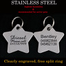Stainless Steel Star Pet Tag Free Engraving Personalised Custom ID Dog Cat Tags