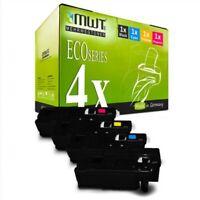 4x Eco Cartucho para Xerox WC-6027 WC-6025 Workcentre 6025 6027 Phaser 6020-BI