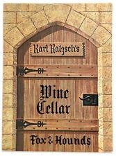 1976 Vintage Wine List Menu Fox & Hounds Early American Restaurant Hubertus Wi