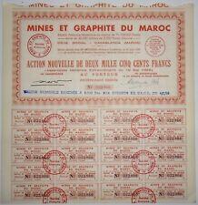 Minen und Graphit von MOROCCO 1956