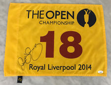 RORY MCILROY AUTO AUTOGRAPH SIGNED 2014 BRITISH OPEN CHAMPIONSHIP PIN FLAG JSA