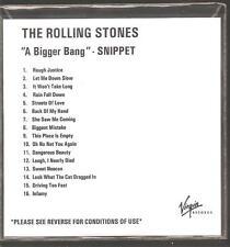 """THE ROLLING STONES """"A Bigger Bang"""" extrait de code PROMO CD RAR"""