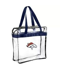 NFL Denver Broncos Clear Zipper Tote Bag 2017 Stadium Approved