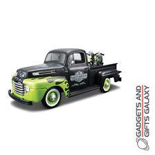 1:24 diecast harley davidson ford F-1 pickup avec fl Panehead vélo-jouet voiture cadeau