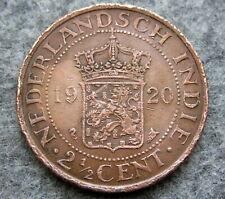 NETHERLANDS DUTCH EAST INDIES INDONESIA WILHELMINA 1920 2-1/2 CENTS