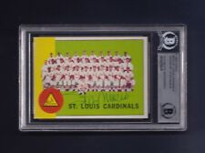 Stan Musial signed Cardinals 1963 Topps team card Beckett Authenticated