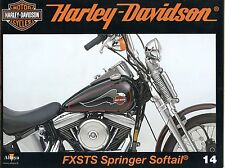 MOTOR CYCLES / UN SIECLE DE HARLEY DAVIDSON / ANNEE 2012 / N° 14 FXSTS