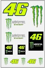 Valentino Rossi Vr46 Moto GP Dual Monster Energy Sticker Set Officially 2020