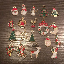 Total 19pcs Christmas Hanging Ornaments DIY Jewellery Pendants Xmas Tree Decor