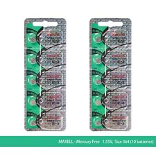 Maxell 364 SR621SW SR 621 Silver Oxide Watch Batteries (10 Pcs)