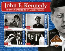 Grenada 2013 MNH John F Kennedy 50th Memorial 4v M/S JFK US President Life