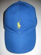 Men's Polo Ralph Lauren Pony Baseball Hat Adj Blue Green Grey Brown Cap, New