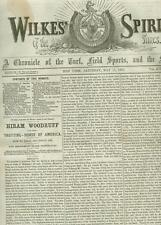 Newspaper Baseball New Rules Boxing 176 Rds!!  Billiards Fishing Lures 1867 RARE
