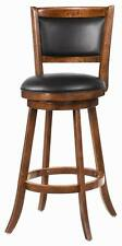 Solid Wood Dark Chestnut Swivel Bar Stool Chair by Coaster 101920 - Set of 3