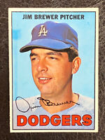 1967 Topps Jim Brewer Card #31 NM-MT Los Angeles Dodgers