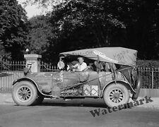 Photograph Vintage Hobo Road King Jeff King in his Automobile 1924  8x10