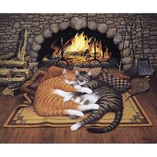 Charles Wysocki All Burned Out Whimsical Cats Americana Art  Limited Edition COA