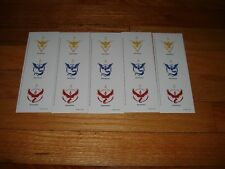 RARE PROMO Pokemon Go Team Stickers Sheet Sprint Limited Edition (LOT of 6)
