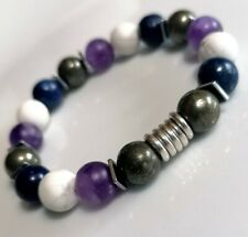 Pyrite, Amethyst, Lapis Lazula beads & Links Of London sterling silver Bracelet