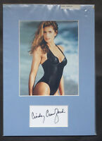 Cindy Crawford Genuine Hand Signed Autograph mounted with 10 x8 Photograph COA