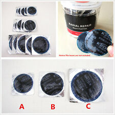 45 Pcs 3 Size Car Radial Tire Repair Round Cold Patch Tubeless Patch Assortment