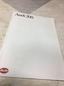 Audi 200 85 Catálogo Folleto Publicidad Automóvil Catálogo Vintage