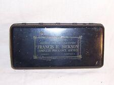 Antique Cash Strong Metal Lock Box Dickson Insurance Pinesville Ohio Safe no key