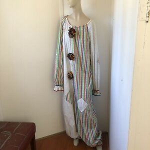 Vintage Midcentury Handmade Patchwork CLOWN SUIT Costume Adult L