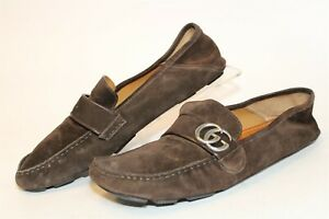 Gucci Mens UK 11 US 12 Suede Slip On Driving Loafers Italy Made Shoes 478768