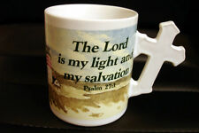 The Lord Is My Light And My Salvation Lighthouse Coffee Mug Cup Excellent Cond