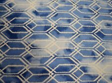 Bevy Cobalt Blue Chenille Geometric Upholstery Richloom Fabric