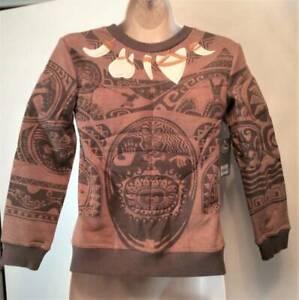 NWT 9/10 Original Disney Moana MAUI Sweatshirt Padded Muscle Tattoo