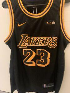 Los Angeles Lakers Black Lebron James NBA Jersey (Size Medium)