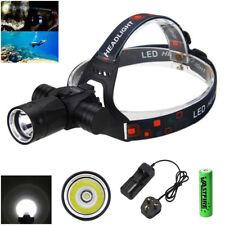 Waterproof 100m 6000Lm XM-L T6 LED Diving Headlamp Head Light Torch Flashlight G