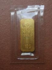10g GRAMM 999.9 FEINGOLD ALTER VINTAGE GOLDBARREN ORIGINAL VERSCHWEIßT DEGUSSA