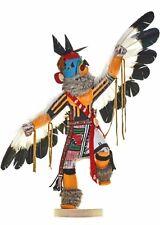 """Navajo Kachina Doll EAGLE DANCER 18"""" x 22"""" Slanted Wings LRG Carved Sculpture"""