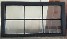 Architectural Salvage - 36x20 6 PANE ANTIQUE WINDOW SASH, PAINTED BLACK