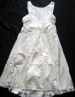 LBMFASHIONS Damenkleid mit Schleife FLAKES D7 in Hellbeige Gr. 38