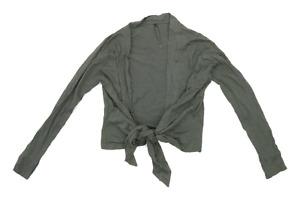 Internacionale Womens Size 12 Cotton Green Cardigan (Regular)