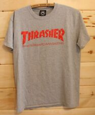 Thrasher Skateboard Magazine Grey Gray T-Shirt Adult Size Medium Authentic +