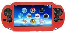 Rojo suave de piel de silicona Protector Funda Carcasa Para Sony Ps Vita Consola Psp