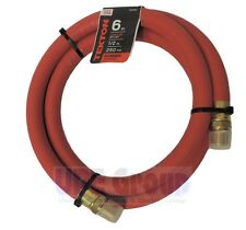 """TEKTON 1/2"""" ID x 6' RUBBER Air Whip Lead In Jumper Hose 250 PSI USA Made 46363"""